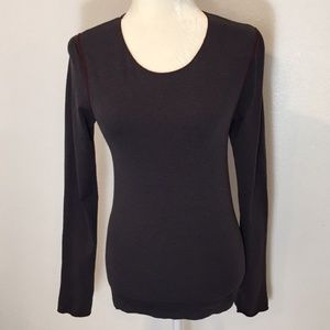 2 for $20 Anthropologie Bordeaux Seamless Top O/S